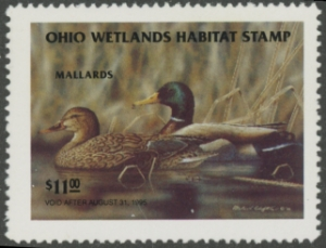 Scan of 1994 Ohio Duck Stamp MNH VF