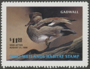 Scan of 1998 Ohio Duck Stamp