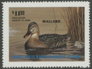 Scan of 1999 Ohio Duck Stamp