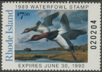 Scan of 1989 Rhode Island Duck Stamp - First of State MNH VF