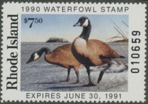 Scan of 1990 Rhode Island Duck Stamp