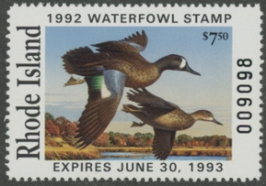 Scan of 1992 Rhode Island Duck Stamp
