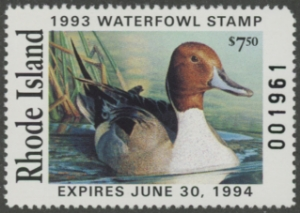 Scan of 1993 Rhode Island Duck Stamp
