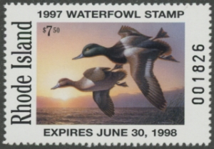 Scan of 1997 Rhode Island Duck Stamp MNH VF