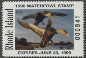 Scan of 1998 Rhode Island Duck Stamp