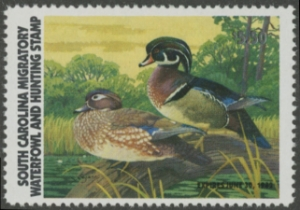 Scan of 1981 South Carolina Duck Stamp - First of State