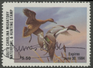 Scan of 1983 South Carolina Duck Stamp SBA