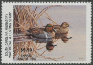 Scan of 1985 South Carolina Duck Stamp