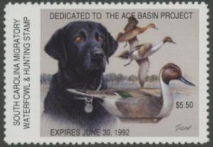 Scan of 1991 South Carolina Duck Stamp