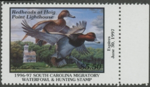 Scan of 1996 South Carolina Duck Stamp