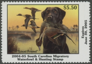 Scan of 2004 South Carolina Duck Stamp