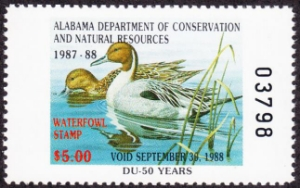 Scan of 1987 Alabama Duck Stamp