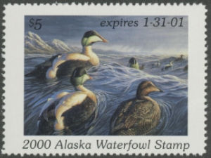 Scan of 2000 Alaska Duck Stamp