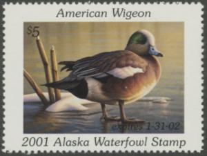 Scan of 2001 Alaska Duck Stamp