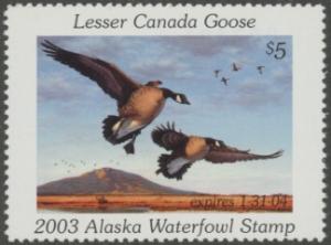 Scan of 2003 Alaska Duck Stamp