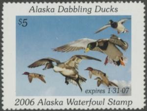 Scan of 2006 Alaska Duck Stamp
