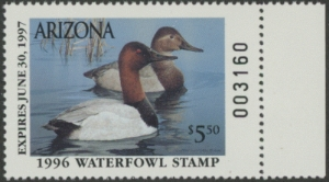 Scan of 1996 Arizona Duck Stamp