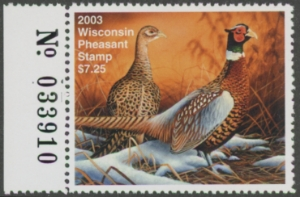 Scan of 2003 Wisconsin Pheasant Stamp MNH VF