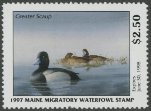Scan of 1997 Maine Duck Stamp