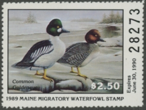 Scan of 1989 Maine Duck Stamp