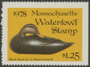 Scan of 1978 Massachusetts Duck Stamp