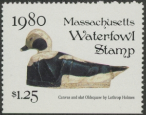 Scan of 1980 Massachusetts Duck Stamp