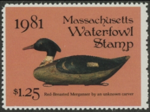 Scan of 1981 Massachusetts Duck Stamp