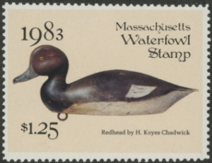 Scan of 1983 Massachusetts Duck Stamp
