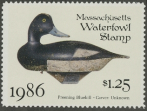 Scan of 1986 Massachusetts Duck Stamp