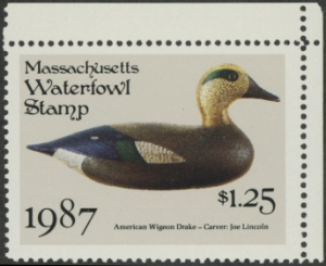 Scan of 1987 Massachusetts Duck Stamp