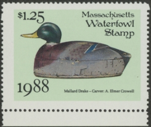 Scan of 1988 Massachusetts Duck Stamp