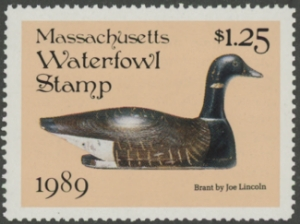 Scan of 1989 Massachusetts Duck Stamp