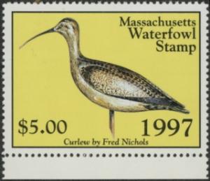 Scan of 1997 Massachusetts Duck Stamp