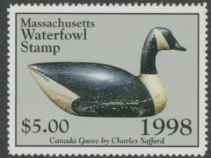 Scan of 1998 Massachusetts Duck Stamp