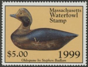 Scan of 1999 Massachusetts Duck Stamp