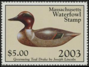 Scan of 2003 Massachusetts Duck Stamp