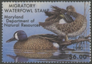 Scan of 1989 Maryland Duck Stamp