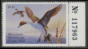 Scan of 1994 Wisconsin Duck Stamp
