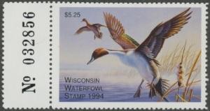 Scan of 1994 Wisconsin Duck Stamp