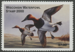 Scan of 2000 Wisconsin Duck Stamp MNH VF