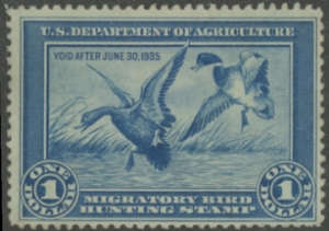 Scan of RW1 1934 Duck Stamp