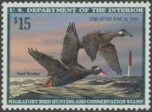 Scan of RW63 1996 Duck Stamp