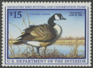 Scan of RW64 1997 Duck Stamp