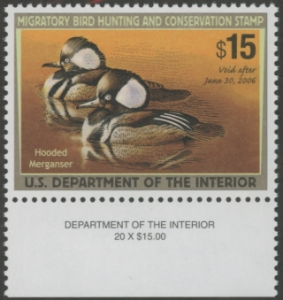 Scan of RW72 2005 Duck Stamp