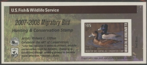 Scan of RW74A 2007 Duck Stamp