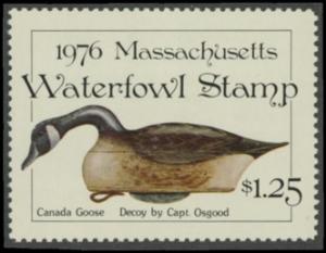 Scan of 1976 Massachusetts Duck Stamp