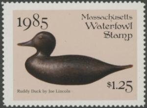 Scan of 1985 Massachusetts Duck Stamp