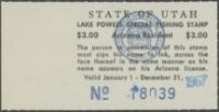 Scan of 1967 Utah Lake Powell Fishing Stamp
