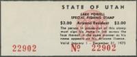 Scan of 1975 Utah Lake Powell Fishing Stamp