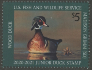 Scan of JDS28 2020 Duck Stamp